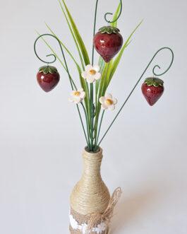 """Composizione con vaso """"fragole"""""""