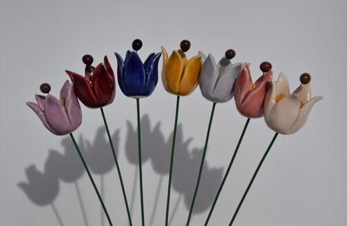 Tulipani in ceramica