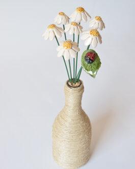"""Composizione con vaso """"camomille piccole"""""""