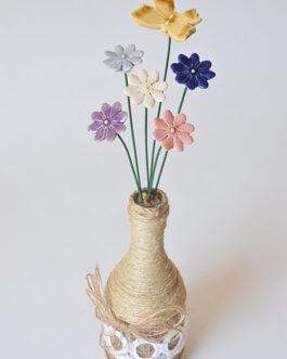 """Composizione con vaso """"margherite piccole"""""""