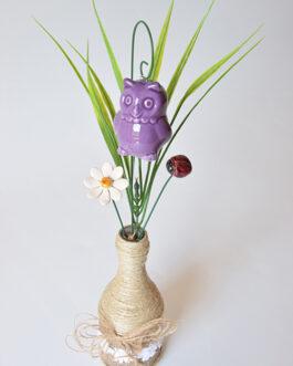 """Composizione con vaso """"gufo"""""""