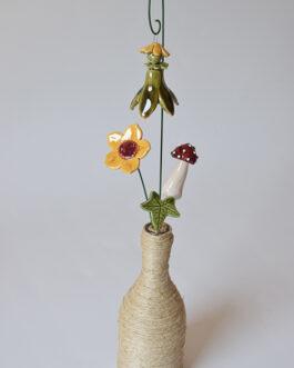 """Composizione con vaso """"fatina"""""""