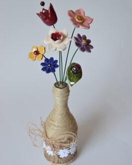 """Composizione con vaso """"tonalità mista"""""""