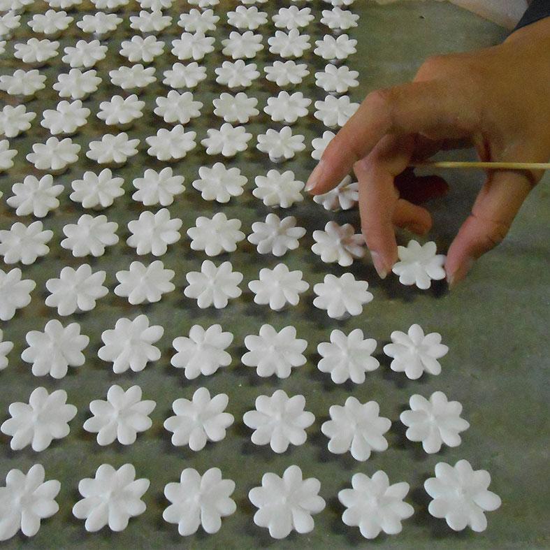 Era ora ceramica fiori reallizzati a mano