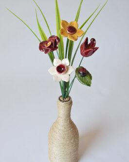 """Composizione con vaso """"tonalità rossa"""""""