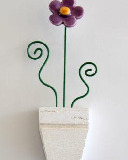 Calamita fiore di fragola lilla