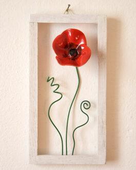 """Quadretto a cornice """"fiore di campo"""""""