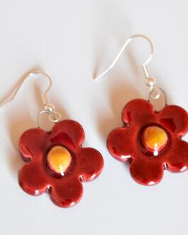 Orecchini con fiore di fragola