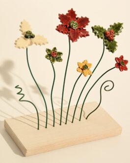 """Piedistallo """"invernale 6 fiori"""""""