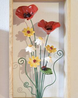 """Quadretto a cornice appoggio """"fiori di campo"""""""